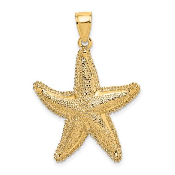 14kt Yellow Gold 1in Starfish Pendant