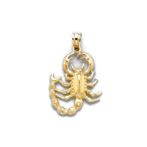 14kt Yellow Gold 3/4in Scorpion Pendant
