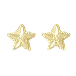 14kt Yellow Gold 5mm Starfish Post Earrings