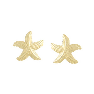 14kt Yellow Gold 7/8in Dancing Starfish Post Earrings