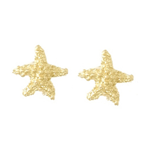 14kt Yellow Gold Beaded Starfish Post Earrings