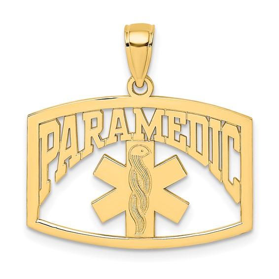 14k Yellow Gold Paramedic Caduceus Pendant