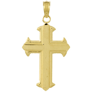 Arrow Cross Pendant 14kt Yellow Gold