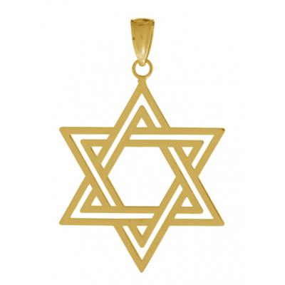32mm Star of David Pendant 14kt Yellow Gold