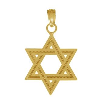 20mm Star of David Pendant 14kt Yellow Gold