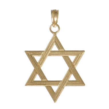 24mm Star of David Pendant 14kt Yellow Gold