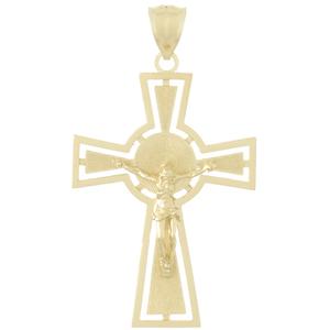 Crucifix Pendant 14kt Yellow Gold