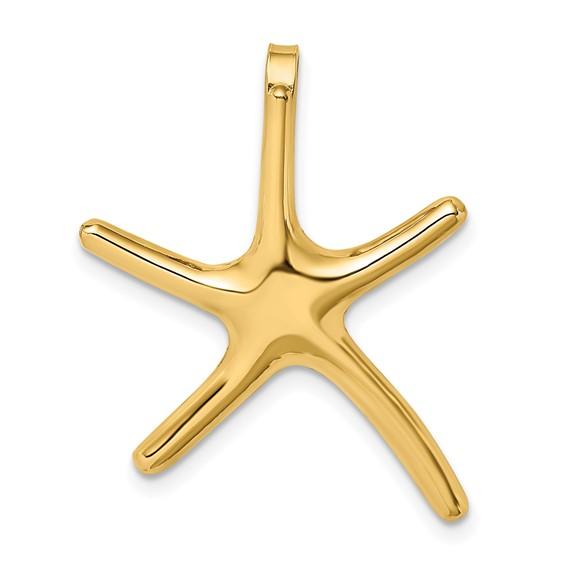 14kt Yellow Gold Large 30mm Starfish Pendant
