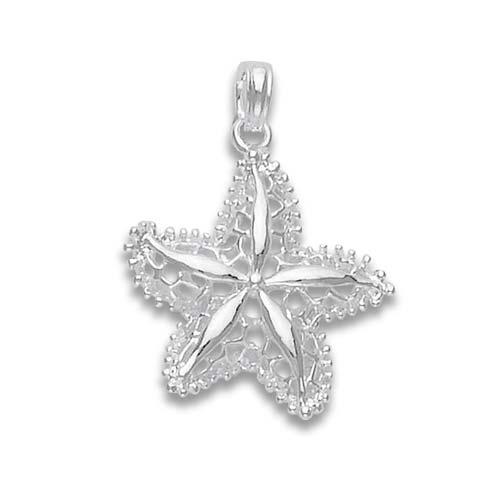 Sterling Silver 1 1/2in Angelfish Pendant