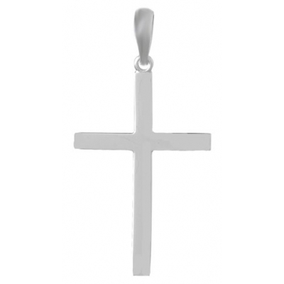 Sterling Silver Solid Back Cross Pendant