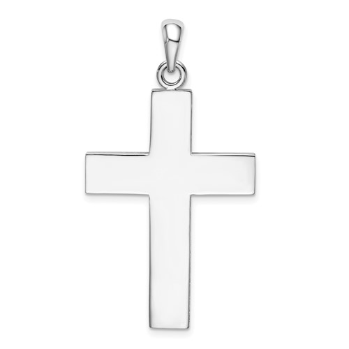 42mm Sterling Silver Large Square Cross Pendant