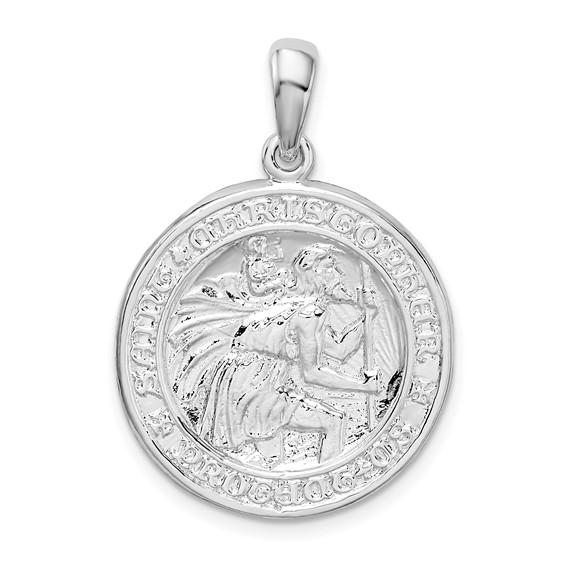 27mm Sterling Silver Saint Christopher Medal Pendant