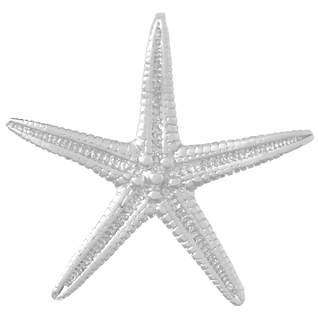 Sterling Silver 1in Starfish Pendant with Hidden Bail