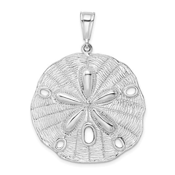 Sterling Silver 1 1/2in Jumbo Sand Dollar Pendant
