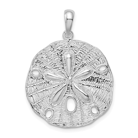 Sterling Silver 1in Sand Dollar Pendant