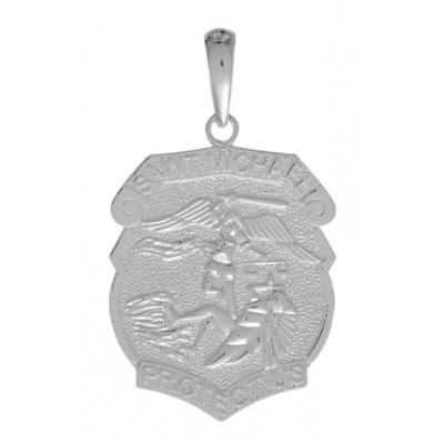 30mm Sterling Silver Saint Michael Medal Pendant