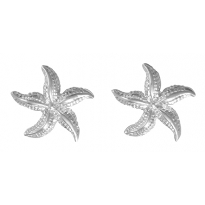 Sterling Silver 1/2in Wiggly Starfish Post Earrings