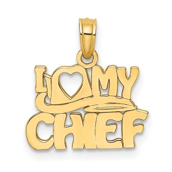 14k Yellow Gold I Love My Chief Charm