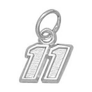 Denny Hamlin No. 11 1/4in Sterling Silver Pendant