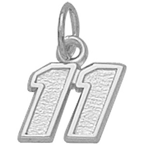 Denny Hamlin No. 11 5/16in Sterling Silver Pendant