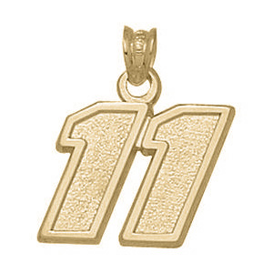 14kt Yellow Gold 1/2in Denny Hamlin No. 11 Pendant