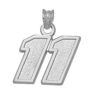 Sterling Silver 1/2in Denny Hamlin No. 11 Pendant