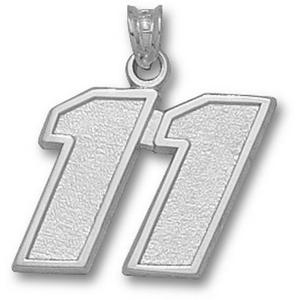 Denny Hamlin No. 11 5/8in Sterling Silver Pendant