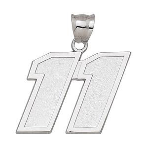 Denny Hamlin No. 11 1 1/2in Sterling Silver Pendant