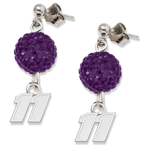 Sterling Silver Denny Hamlin Crystal Ovation Earrings