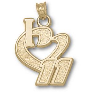 I Love No. 11 3/4in 10k Pendant