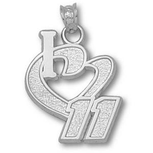I Love No. 11 3/4in Sterling Silver Pendant