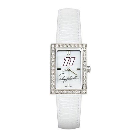 Denny Hamlin Ladies Allure Watch White Leather Strap