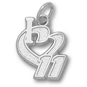 I Love No. 11 1/2in Sterling Silver Pendant