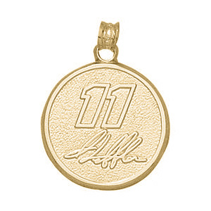 Denny Hamlin No. 11 3/4in Pendant - 14kt Gold