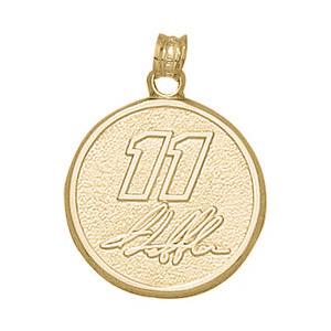 Denny Hamlin No. 11 3/4in Pendant - 10kt Gold