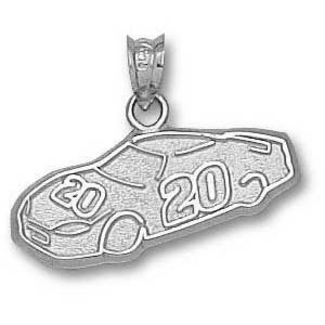 Sterling Silver 3/8in Driver #20 Car Pendant