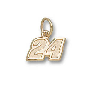 Jeff Gordon No. 24 1/4in 10k Pendant