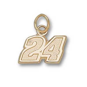 Jeff Gordon No. 24 5/16in 14k Pendant