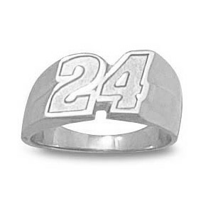 Jeff Gordon No. 24 Ladies' Ring - Sterling Silver
