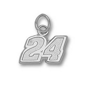 Jeff Gordon No. 24 5/16in Sterling Silver Pendant