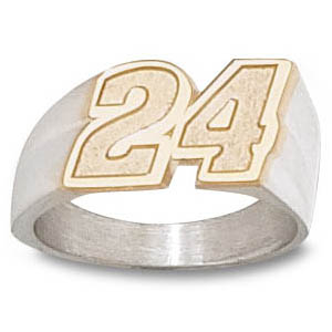 Jeff Gordon No. 24 Men's Ring - 14k