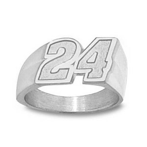 Jeff Gordon No. 24 Men's Ring - Sterling Silver