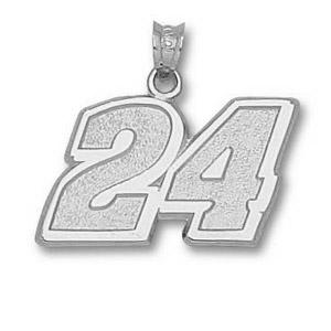 Jeff Gordon No. 24 9/16in Sterling Silver Pendant