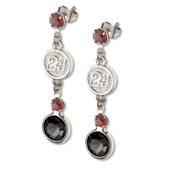 Jeff Gordon Crystal Logo Earrings
