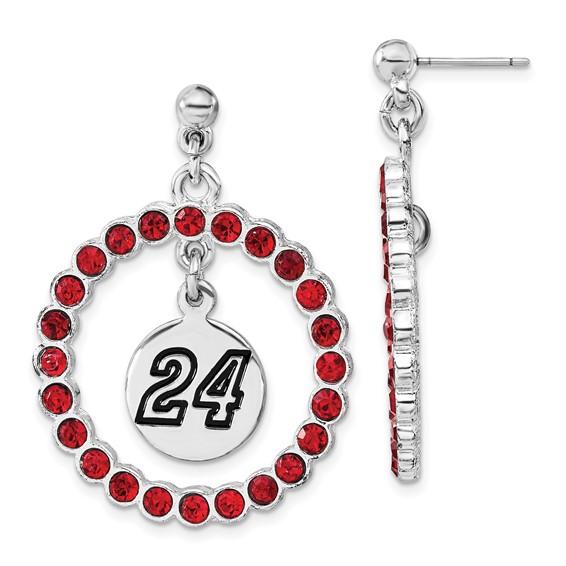 Jeff Gordon Spirit Crystal Logo Earrings