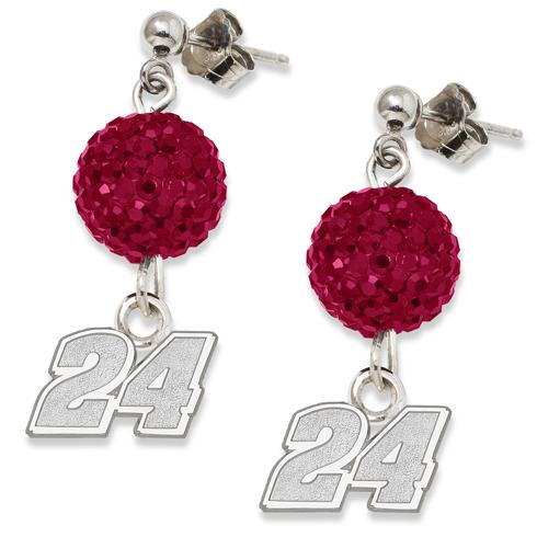Sterling Silver Jeff Gordon Crystal Ovation Earrings