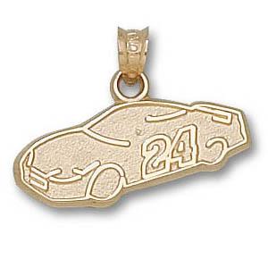 Jeff Gordon Car 3/8in 14k Pendant