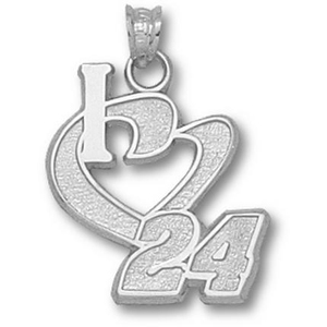 I Love No. 24 1/2in Sterling Silver Pendant