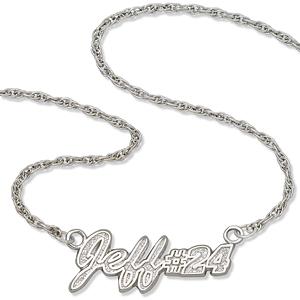 Jeff No. 24 18in Sterling Silver Script Necklace