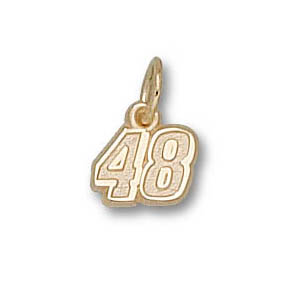 10kt Yellow Gold 1/4in Jimmie Johnson No. 48 Charm